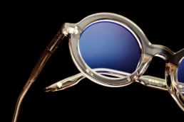 Studyjne zdjecie detalu oprawek okularowych