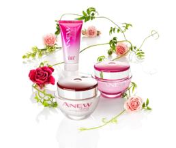 Kosmetyki posrod kwiatow